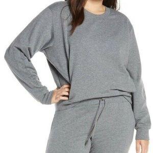 Zella Crewneck Sweatshirt Banded Sleeves Pockets